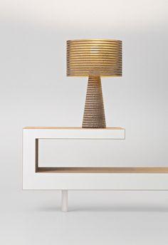 #cardboard table #lamp MISHA by Stay Green | #design by Studio di architettura Roberto Pamio - Pamio Design @StaygreenVe