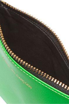 Comme des Garçons - Neon Leather Wallet - Blue - one size