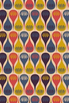 """Flower DroPs"" by MaRwA El-AttAr. To have a colourlovers pattern printed on fabric, go to http://www.colourlovers.com/store/fabric"