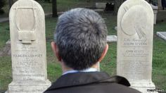 A man reads the epitaph on the graves of Keats and Shelley at Italy's famously beautiful Protestant Cemetary, just outside of Rome.