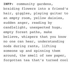 mbti infp Lela and Lily myersbriggs.tumblr.com