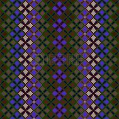 tweed: Ретро геометрические бесшовные узор в синем, и черный. бесшовный узор из квадратов в винтажном стиле Иллюстрация