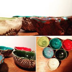 Some colorful litte bowls ❤️ Quiche, Serving Bowls, Decorative Bowls, Tableware, Kitchen, Handmade, Colorful, Home Decor, Dinnerware