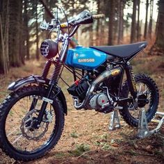 For me a really brutal Simson Cross made By @ ✌️ biggest . Retro Motorcycle, Motocross Bikes, Cafe Racer Motorcycle, Sport Bikes, Custom Moped, Custom Bikes, 50cc Moped, Lambretta Scooter, Super Bikes