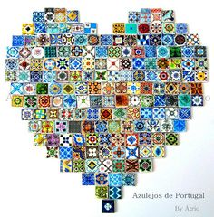 Azulejos of Portugal--Photo by Atrio, one of my favorite shops on Etsy Portuguese Culture, Portuguese Tiles, Antique Tiles, Bottle Design, Rainbow Colors, Design Elements, Arts And Crafts, Pottery, Etsy Shop