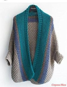 Cardigan medium length, the composition is half-wool, sleeve size For additional sizes and price please contact direct or Watsapp, all will answer! Crochet Cardigan, Knit Or Crochet, Knitting Patterns, Crochet Patterns, Cocoon Sweater, Knit Jacket, Knit Fashion, Crochet Clothes, Pulls