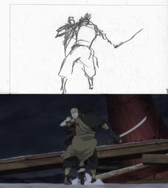 'Sword of the Stranger' rough and finished animation by Yutaka Nakamura