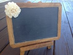 Wedding Chalkboard with Easel - Framed Shabby Chic Rustic Chalkboard - 7x10 Size Chalkboard - Chalkboard Photo Prop on Etsy, $25.00