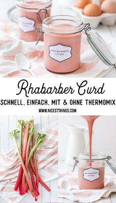 Rhabarber Curd Rezept Rhabarbercurd selber machen mit und ohne Thermomix #rhabarber #rhabarbercurd #curd #rhabarberrezepte #thermomix Apple Recipes Easy Quick, Quick Easy Meals, Sweet Recipes, Healthy Dessert Recipes, Easy Desserts, Homemade French Onion Soup, Soup Recipes, Cooking Recipes, Dinner Recipes