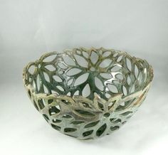 On Sale Today Ceramic Cut Out Art Vessel Fruit by BlueSkyPotteryCO