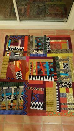 Improv squares, top done, now for the back. For improv workshop #improvloxton