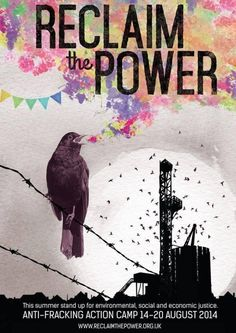 Reclaim The Power poster by No Dash For Gas
