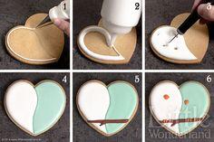little wonderland - Galletas decoradas 8: Decoración de una galleta / Cookie decorating 8: Decorating a cookie