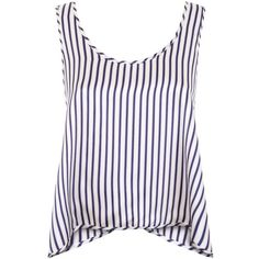 Violet & Wren - Cross Back Tank in St Kitts Stripe (240 CAD) ❤ liked on Polyvore featuring tops, tanks, shirts, tank tops, white tank top, relaxed fit tank top, white singlet, striped tank top and stripe tank top