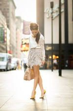 Lace Tiered Top & Delicate Skirt