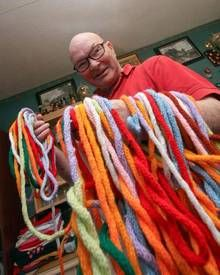 british knitter 17 miles french knitting Adi wants to beat this record. Takes a while though about 20 years.