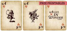 Free vintage Alice in Wonderland party Printables at Southbound Bride