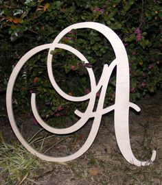 """24"""" Large  Wooden Wall Letters - Monogram Letters- Wedding Decor Letters. $24.00, via Etsy."""