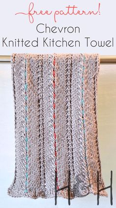 Hand knitted towels