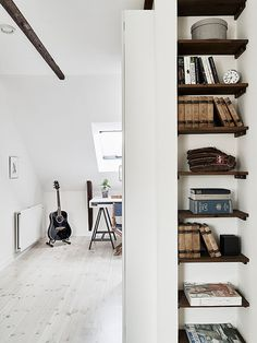 Nook with small shelves