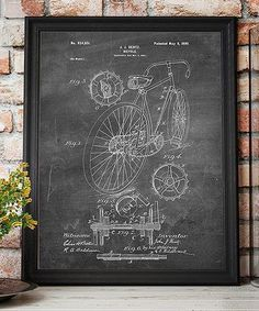Another great find on #zulily! Bicycle 1899 Chalkboard Patent Art Print #zulilyfinds