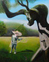 "Original Oil Painting on Canvas ' Buckaroo ' 16"" x 20"""