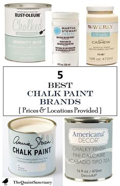 The Quaint Sanctuary: { 5 Best Chalk Paint Brands with Prices & Sources Provided }
