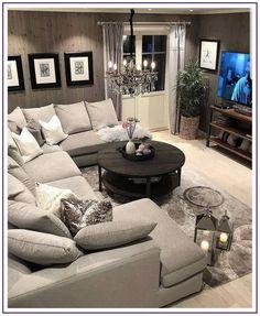 Comfy Small Living Room Decor Ideas For Your Apartment - Decor Salon Maison - Living Room Decor Cozy, New Living Room, Home And Living, Cozy Room, Modern Living, Living Room With Sectional, Cool Living Room Ideas, Decorating Small Living Room, Loving Room Decor