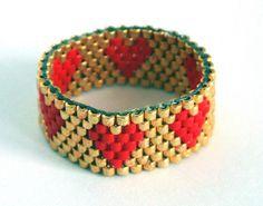 anello cuore by ile1974 delica seed bead ... inspiration