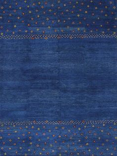 Rugsville Gabbeh Tribal Blue Wool Rug 13203