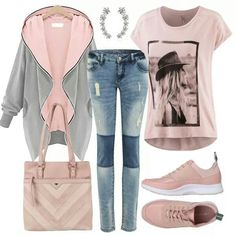 Buy leisure outfits for women online FrauenOutfits.de - Leisure outfits at FrauenOutfits. Casual Fall Outfits, Outfits For Teens, Classy Outfits, School Outfits, Muslim Fashion, Modest Fashion, Hijab Outfit, Womens Fashion Online, Latest Fashion For Women