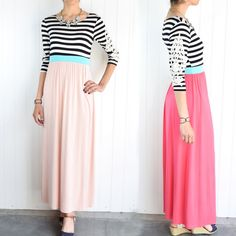 Lena Striped Maxi Dress