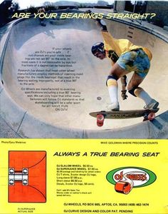 Mike Goldman OJ Wheels Vintage Skateboard Ads from the 70s and 80s
