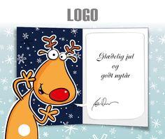 ekortet.dk leverer danmarks flotteste elektroniske julekort til virksomheder.På billedet: Julekort med logo. Rudolf med den røde tud.Ekort, e-kort, e-julekort, ejulekort, elektroniske julekort, ecard, e-card, firmajulekort, firma julekort, erhvervsjulekort, julekort til erhverv, julekort med logo, velgørenhedsjulekort, julekort