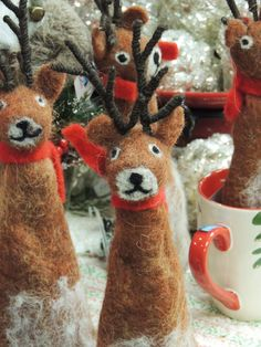 Reindeer wine bottle toppers from Trig's Floral and Home