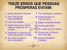 Treze erros que pessoas prósperas evitam...