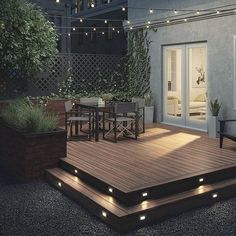 Building A Deck 695876579910841057 - Create a complete look with Deckorators Heritage Deck Boards and Heritage Fascia, shown here in Riverhouse. Back Garden Design, Backyard Patio Designs, Backyard Pools, Deck Landscaping, Small Backyard Decks, Small Deck Designs, Small Decks, Narrow Backyard Ideas, Small Patio Design