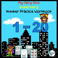 Unleash the superheroes in your classroom! This 47 page Number Practice for Superheroes Workbook is so much fun! Part 1 is 1-10 trace, count and color; Part 2 is 1-20 trace, write, color and count the stars and other objects; Part 3 includes SuperHero Color-by-Code! Next is counting review pages wit... Learning For Life, Learning Centers, Math Centers, Kindergarten Blogs, Kindergarten Activities, Preschool, Superhero Coloring, School Reviews, Superhero Kids
