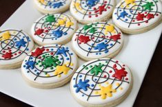 Paintball cookies by The Pink Mixing Bowl!