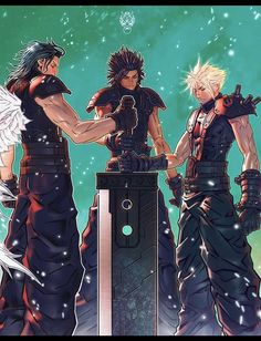 Final Fantasy 3, Final Fantasy Crisis Core, Final Fantasy Characters, Final Fantasy Artwork, Fantasy Series, Fantasy Pictures, Cloud Strife, Fan Art, Kingdom Hearts