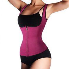 4227157dc3 Zipper style ladies sweat vest slimming body sculpting clothing neoprene  rubber waist corset