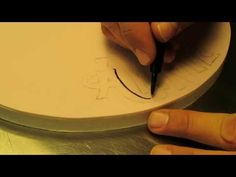 ▶ How To Add Creative Font To A Cake Board: The Krazy Kool Cakes Way! - YouTube