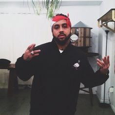 Bodega Bamz rockin the Staple Mark One jacket & celebrating the release of his new mixtape at Reed Space