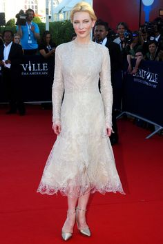 Cate Blanchett in Armani Privé at the Deauville American Film Festival Opening Ceremony, France.