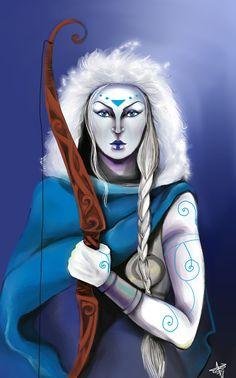 Goddess Skadi by Moerin