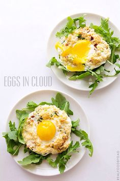 Eggs in Cloud | An easy four ingredient recipe that comes together in less than 15 minutes