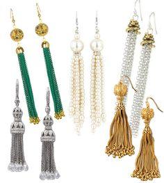 Tassel earrings #weddings #accessories