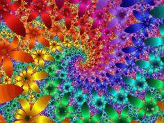 Rainbow Flowers - Fractals Image by - Photobucket Dye Flowers, Rainbow Flowers, Rainbow Colors, Vibrant Colors, Rainbow Swirl, Rainbow Art, Fractal Design, Fractal Images, Fractal Art