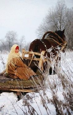 Winter in the Russian countryside, #Russia.