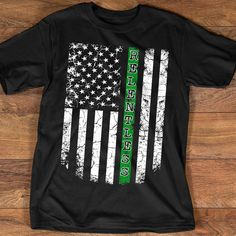 Military thin green line Tactical American Flag License Plate Game Warden Tag